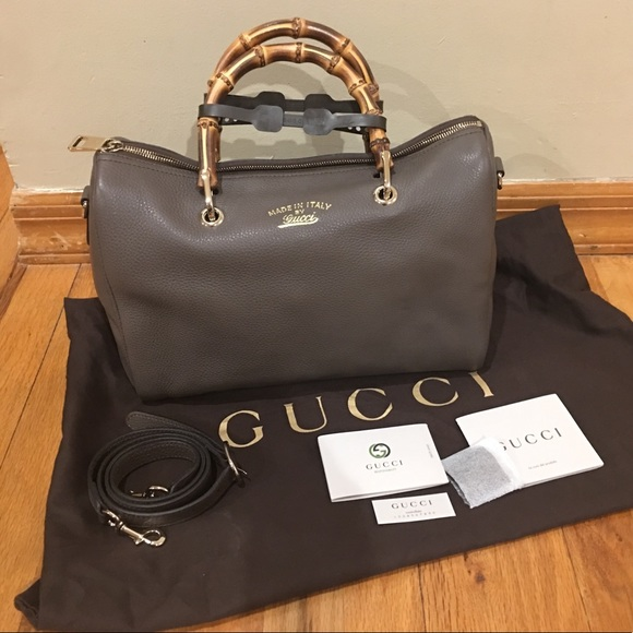 160c6d530489 Gucci Bags | Authentic Bamboo Boston Bag Brandnew | Poshmark